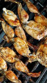BBQ barbecue frog legs photo