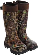 Camo rubber boots for hunting gigging frog legs.